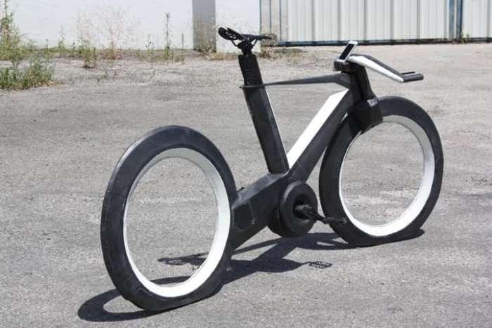 Невероятный велосипед.