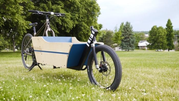 Велосипед превращается в грузовик.