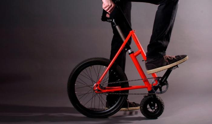 Новый мобильный велосипед.