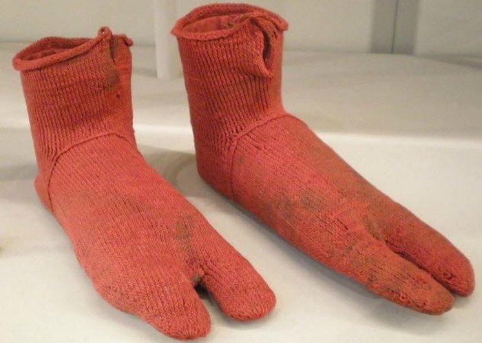 Вязаные египетские носки.