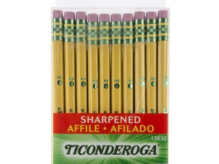 Коробка из 30 карандашей Dixon Ticonderoga.