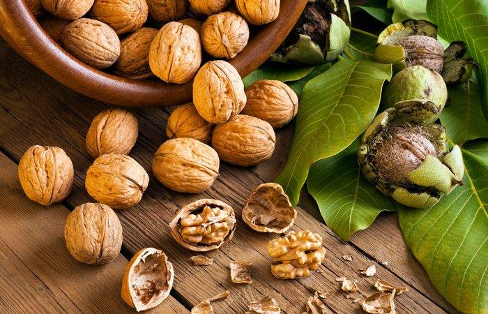 Высокоэнергетический продукт: грецкие орехи.