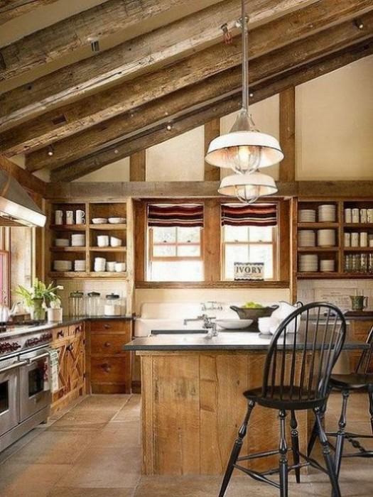 Кухня в деревенском стиле.