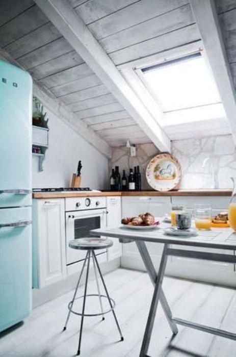 Кухня, на которой приятно расслабиться.