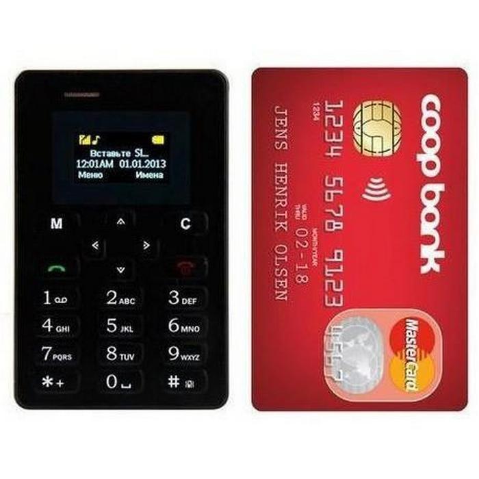 Телефон с кредитную карту.