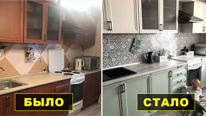 Изменить интерьер кухни за сущие копейки.