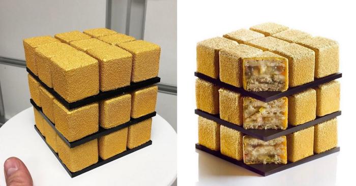 Такие разные золотые кубики.