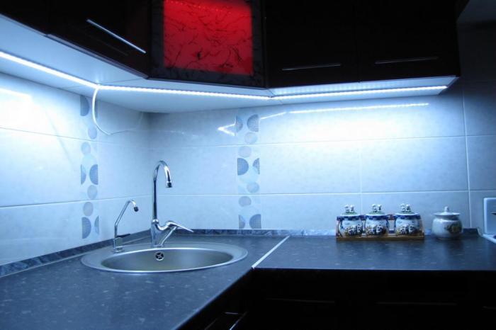 Светодиоды - идеальное решение для кухни.
