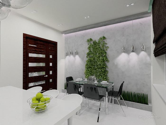 Зелёный стиль на кухне.