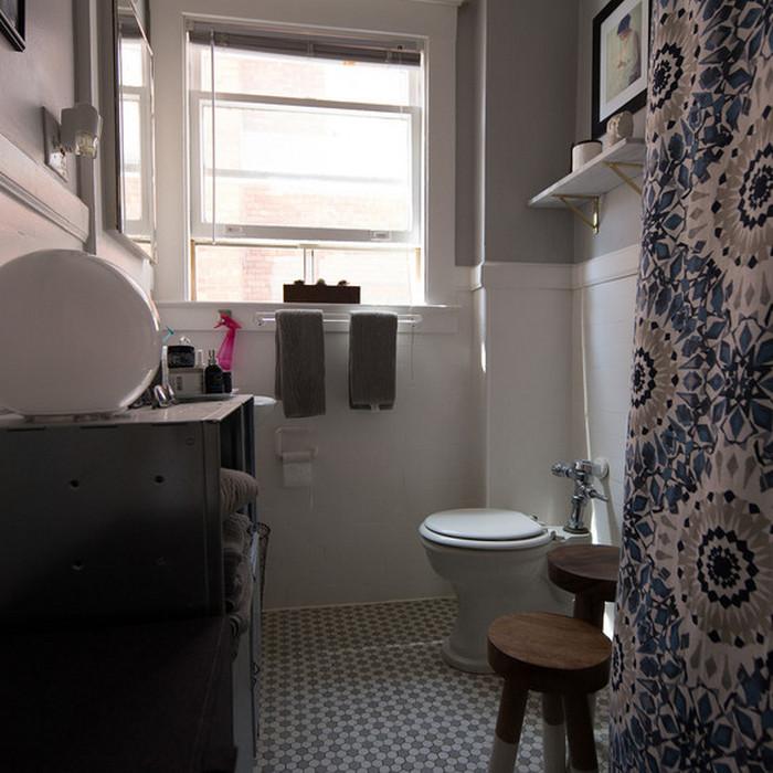 И в мини-квартире можно сделать уютную ванную.