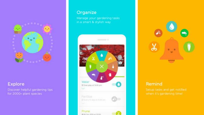 Интерфейс приложениея «Gardenia»