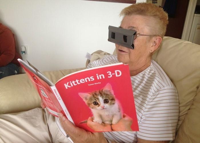 Бабушка и 3D-технологии.
