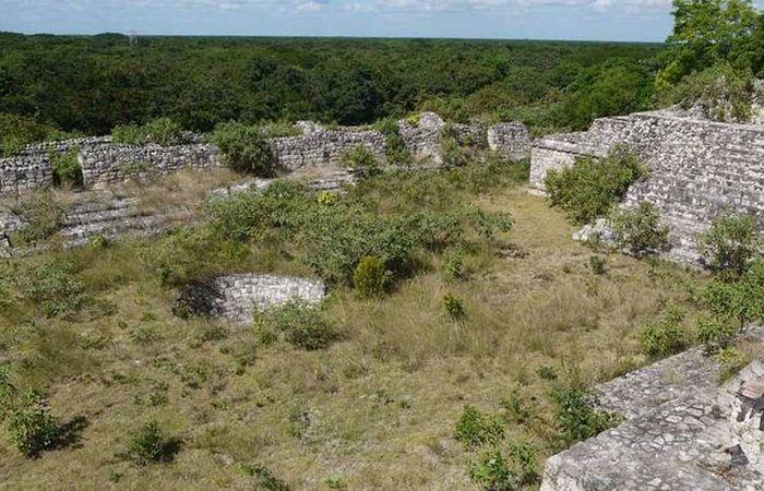 Древняя торговля: продовольственный рынок майя.