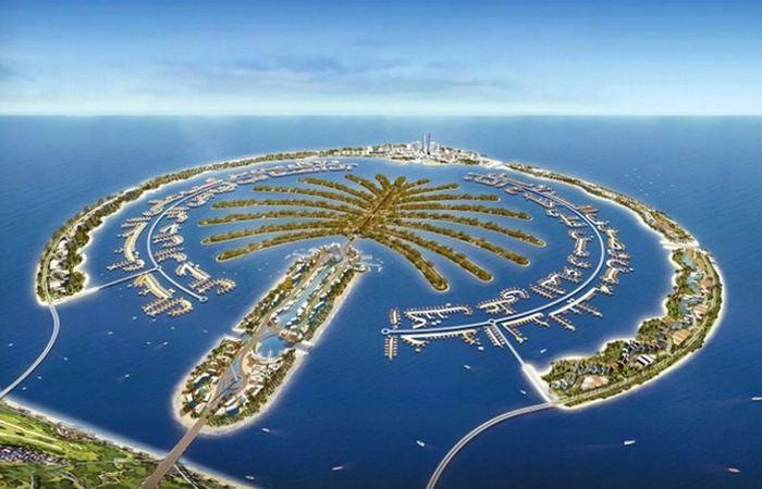 Искусственный остров Palm Jumeirah, Дубай, ОАЭ.