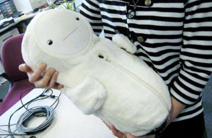 Роботы-младенцы в Японии.