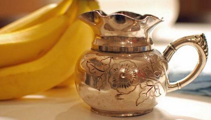 Банановая кожура поможет с полированием серебра.