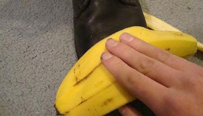 Банановая кожура поможет с полированием обуви.