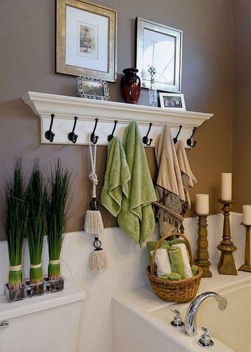 Крючки для полотенец в интерьере.
