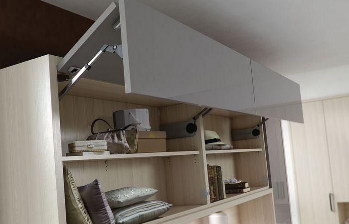 Встроенная мебель как место для хранения.
