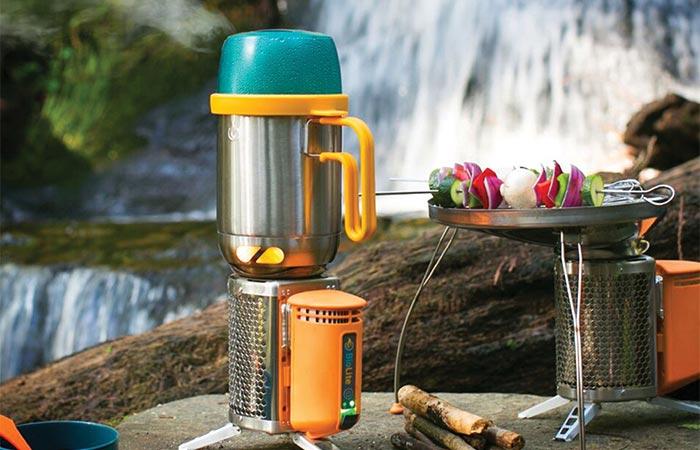 Кофеварка-чайник-кастрюля для вылазок на природу.