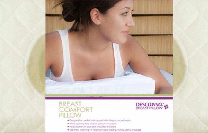 Все для женской груди: подушка для сна на животе.