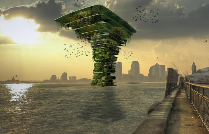«Морское дерево» - дом на воде для птиц, летучих мышей, насекомых.