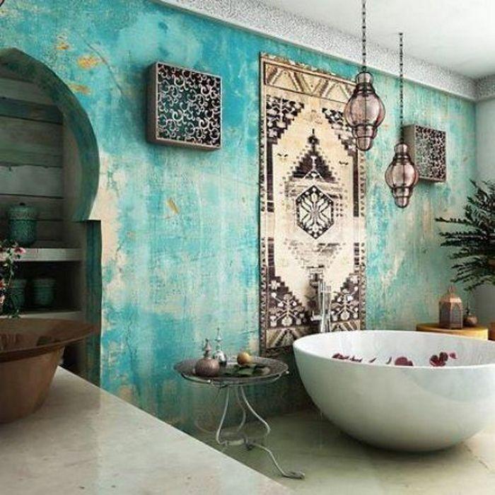 Марокканские мотивы в сочетании с бирюзой действительно великолепны.