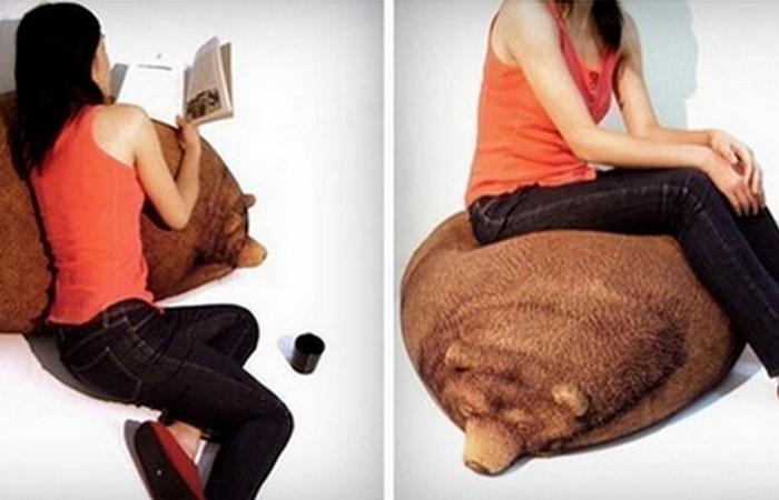 Кресло-мешок «Sleeping Grizzly Bear».