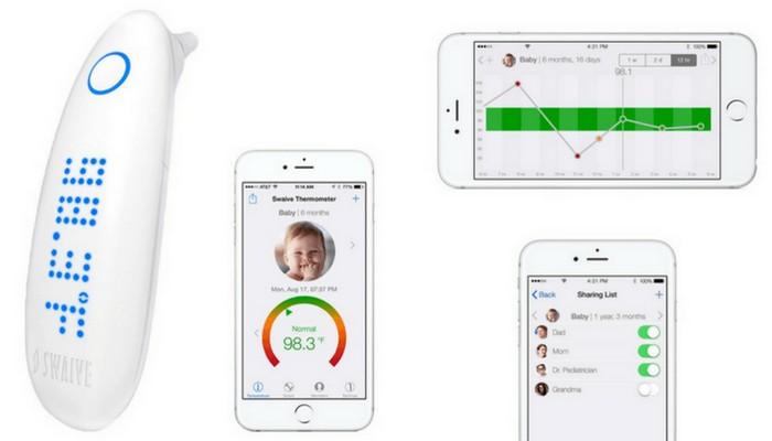 Интеллектуальный термометр для малышей Swaive.