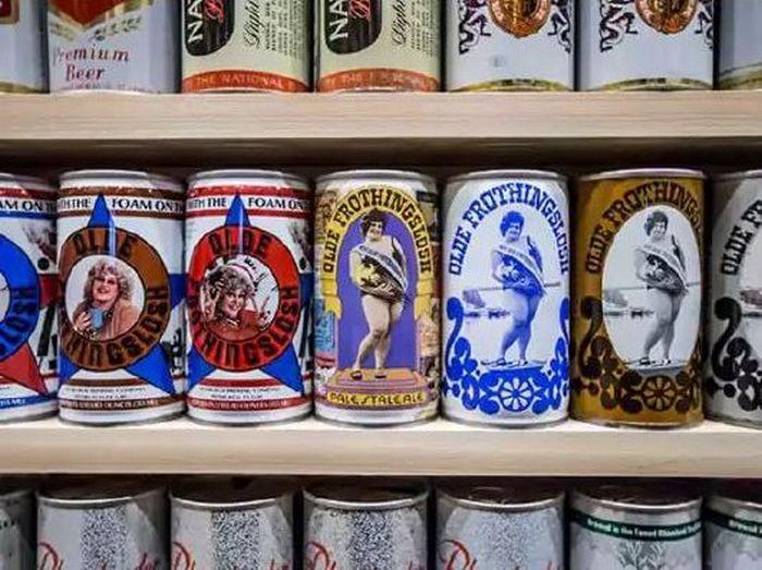 Банки от пива на любой вкус.