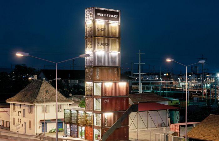 Жилой комплекс из контейнеров: «Freitag Shop».
