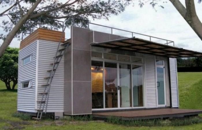 Дом из контейнеров: «Cubica Container House».