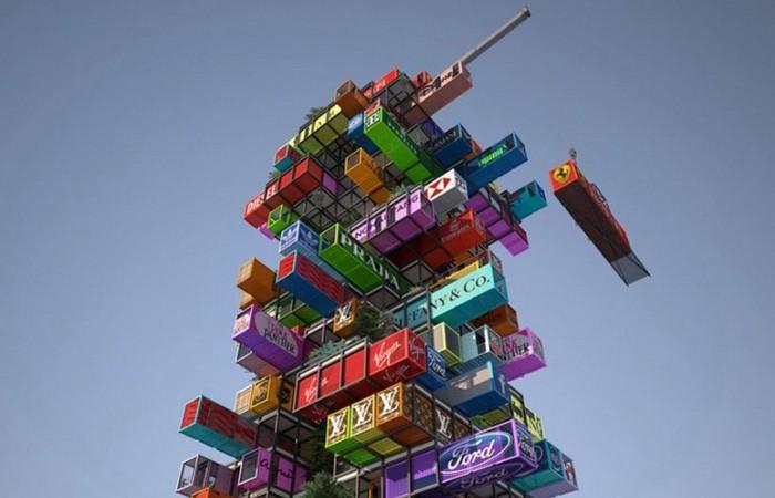 Отель из контейнеров: «Hive-inn».