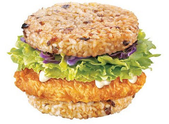 МакРайс бургер: рис вместо булочки.