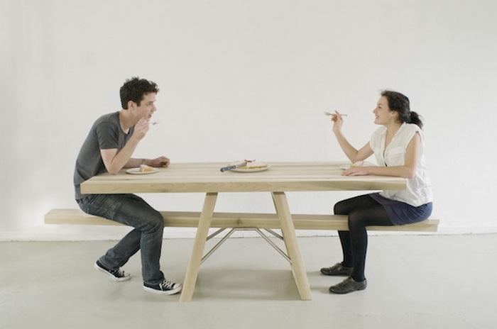 Невероятный стол для пикника.