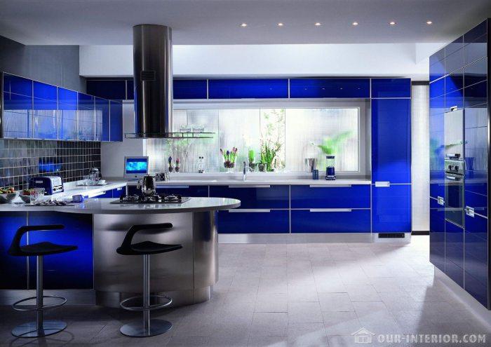 Синяя кухня как средство похудеть.