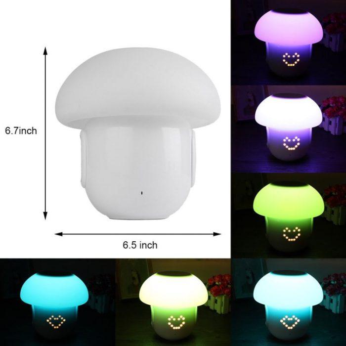 Cпикер-колонка с LED-лампой в виде гриба.