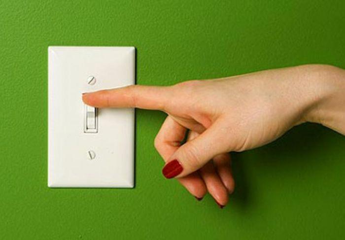 Правило экономии: выключать свет, выходя из комнаты.