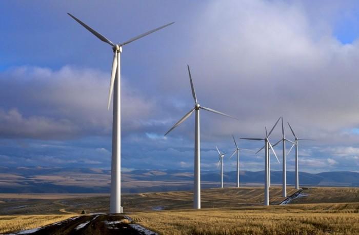 Ветряные турбины.