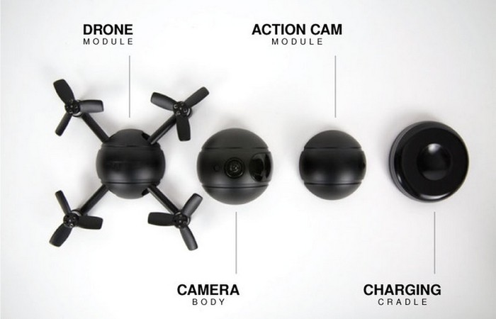 В центре Eyedea Pitta находится сферическая камера.