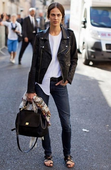 Лихая мода «лихих 90-х»: кожаная куртка.