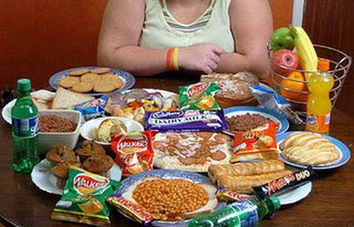 Фаст-фуд - это ожирение.