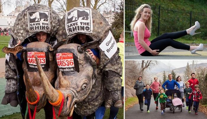 Самые странные марафонцы.