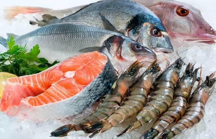 Группа продуктов питания «Обязательно добавить в рацион». Рыба и морепродукты.