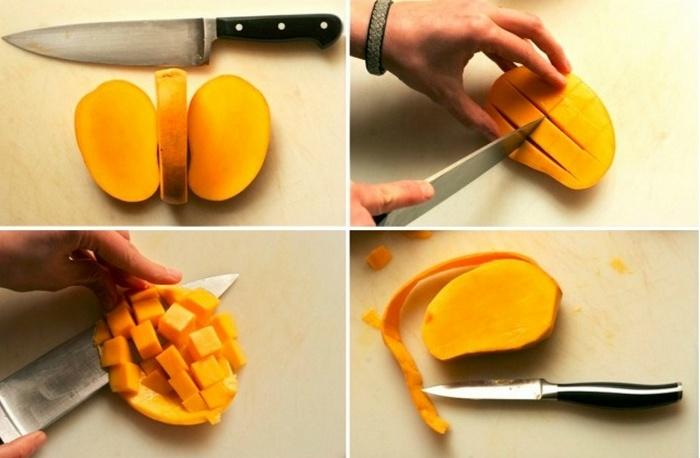 Технология нарезания манго.