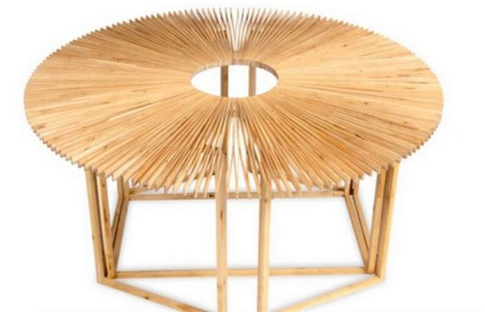 Мебель-трансформер: стол-веер от «Mauricio Affonso».