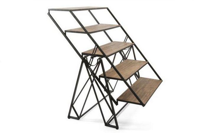 Мебель-трансформер: книжные полки - обеденный стол от «ImaxCorp».