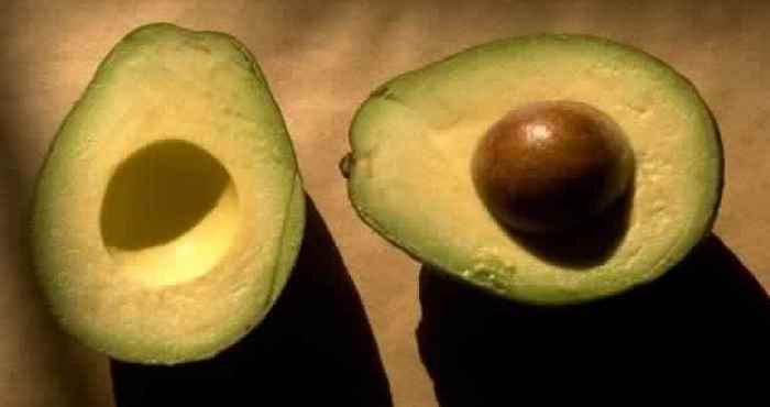 Авокадо изменён до неузнаваемости.