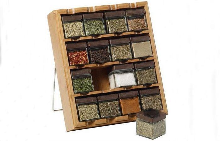 Бамбуковый многосекционный ящик для специй Kamenstein.