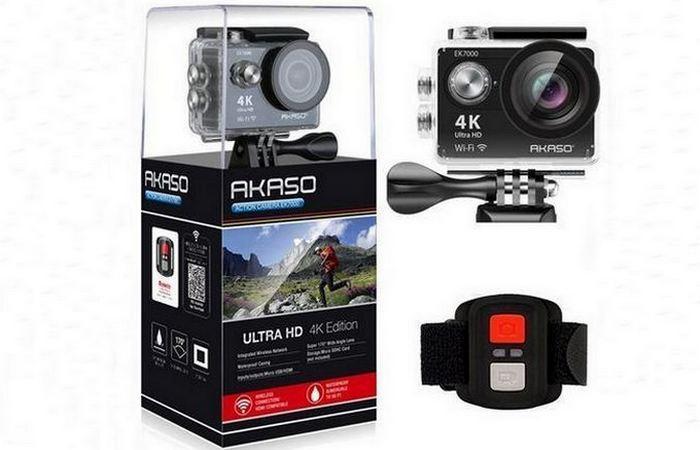 Водонепроницаемая камера AKASO ultra HD.